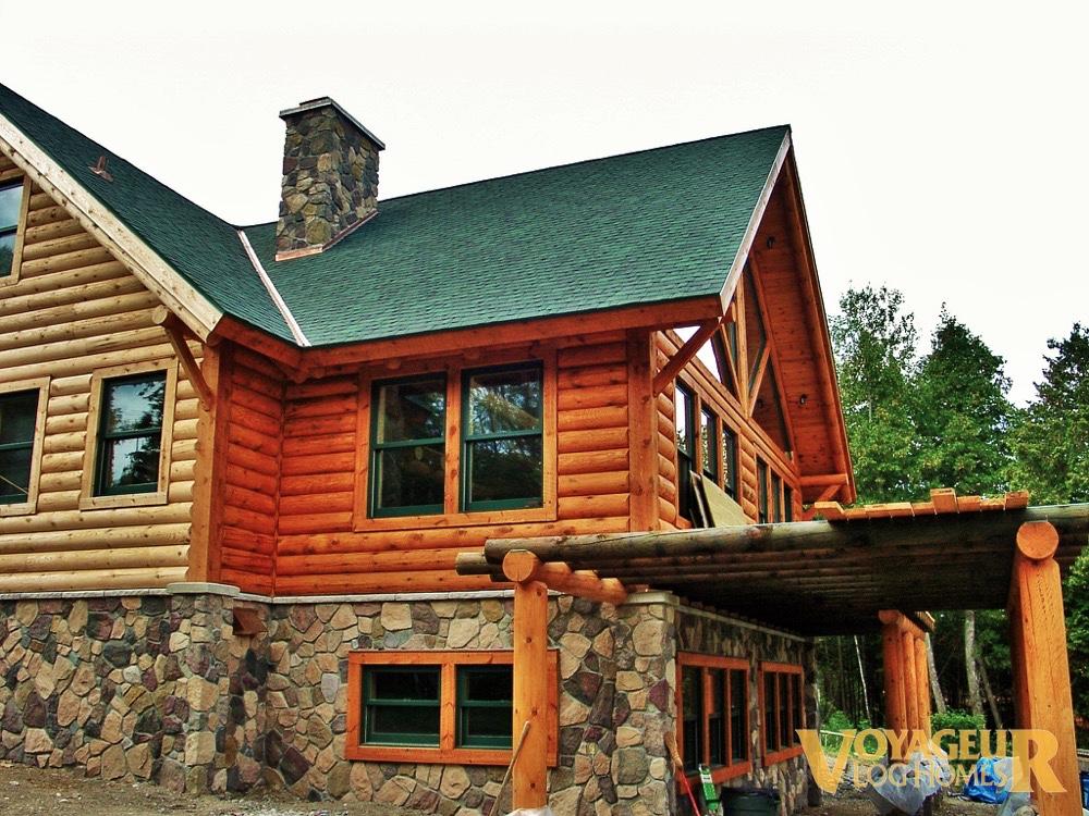 gallery half log voyageur log homes