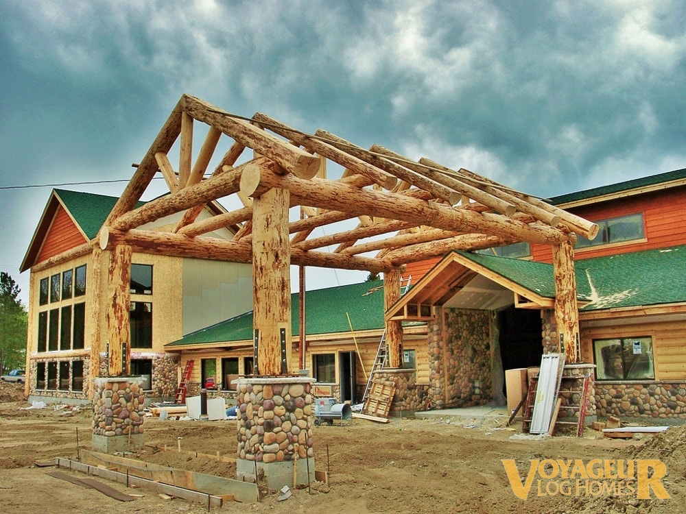 Products Accent Logs Amp Timbers Voyageur Log Homes
