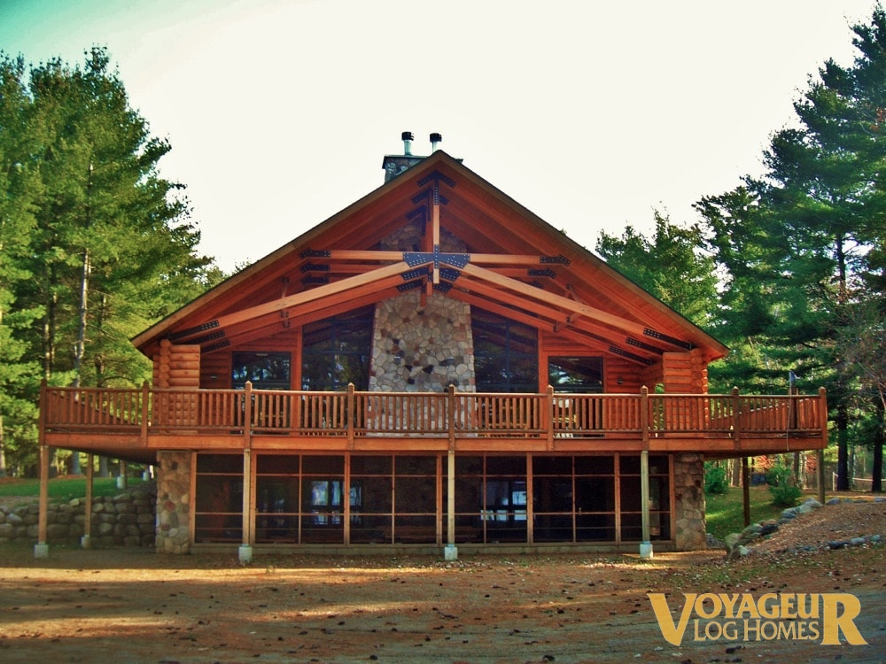 Gallery Log Accents Amp Options Voyageur Log Homes