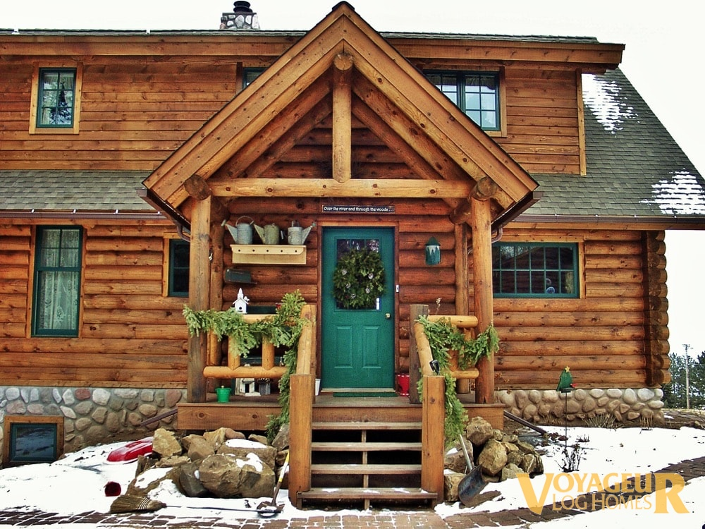 Products Half Log Voyageur Log Homes