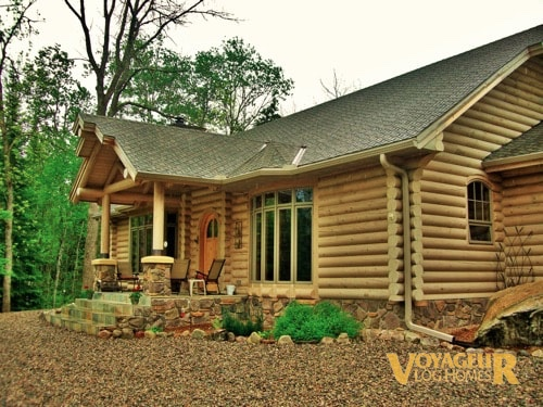 Products Half Log Voyageur Log Homes